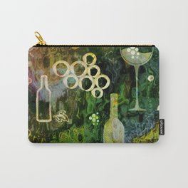 Abstract Wine Background - Sepia Green Carry-All Pouch