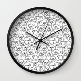 Oh Poodle Wall Clock