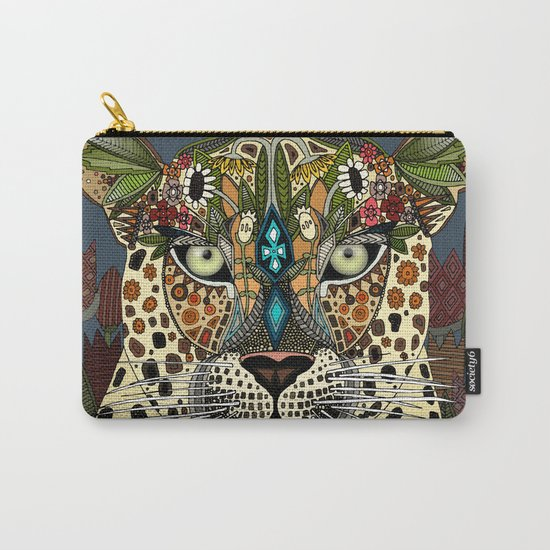 leopard queen blue Carry-All Pouch