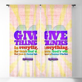 Give Thanks in Everything! Blackout Curtain