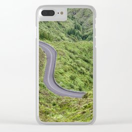 Sao Miguel, Azores road Clear iPhone Case