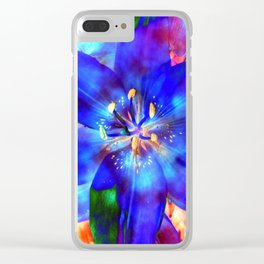 Flashy Flower Clear iPhone Case
