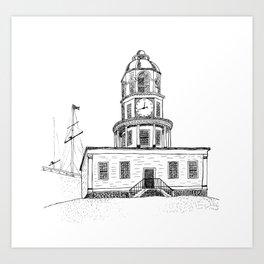 Halifax Town Clock Art Print
