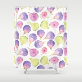Watercolor Figs Shower Curtain