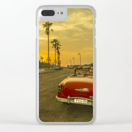 Habana convertible sunset Clear iPhone Case