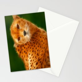 Cheetah Head Stationery Cards