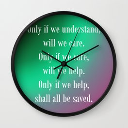 Understand Care Help Save Wall Clock