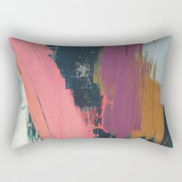 Anywhere: a bold, colorful abstract piece Rectangular Pillow