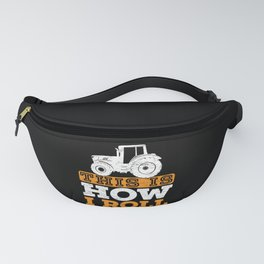 This Is How I Roll Tractor Dad Grandpa Farmer Fanny Pack