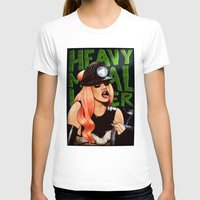 heavy metal T-shirts featuring Heavy Metal Lover by Helen Green