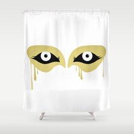 Melting Mask Shower Curtain