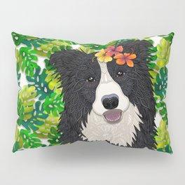 Tropical Border Collie Pillow Sham