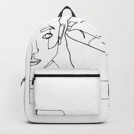 DETERMINED ( ONE LINE ART ) Backpack