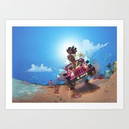 Beach Mermaids Art Print