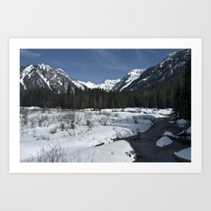 Spring in the mountains Art Print