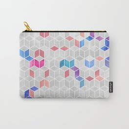 Watercolor Kaleidoscope. Mosaic. Rose gold Carry-All Pouch