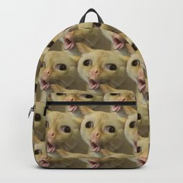 Coughing Cat Meme Pattern Backpack