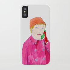 Doris Day on the phone iPhone X Slim Case