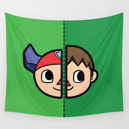 Old & New Animal Crossing Villager Comparison Wall Tapestry