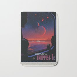 NASA Visions of the Future - Planet Hop from Trappist-1e Bath Mat