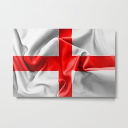 English St Georges Cross Flag Metal Print