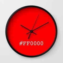 #ff0000 (red) Wall Clock