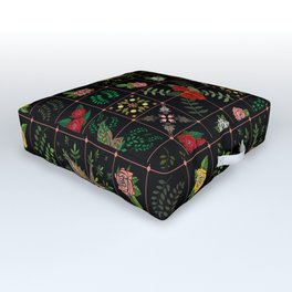 Swallows in a Spanish Rose Garden Outdoor Floor Cushion