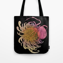 Chrysanthemum & Spider Tote Bag