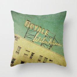 1926 Wilshire Royale Art Deco Vintage Sign Throw Pillow