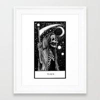 tarot Framed Art Prints featuring Death Tarot by Corinne Elyse