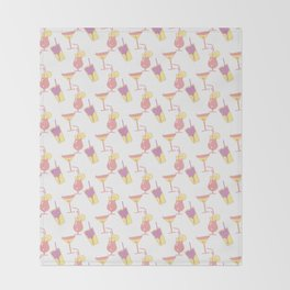 Summer beverage pattern Throw Blanket
