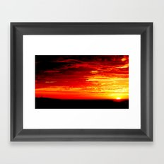 Fiery Sky Framed Art Print