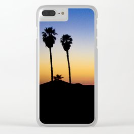 Hopped off the plane at LAX Clear iPhone Case