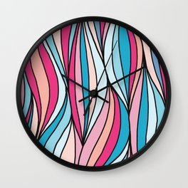 Colored abstract strips Wall Clock