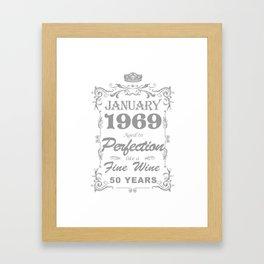January 1969 50th Birthday Framed Art Print