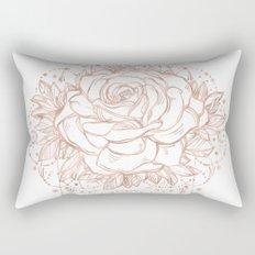 Mandala Lunar Rose Gold Rectangular Pillow