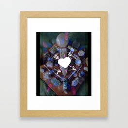 Lunar Love Framed Art Print