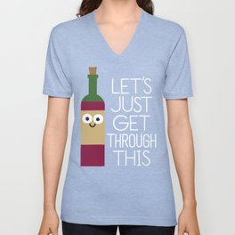 When You're Feeling Merlot Unisex V-Neck