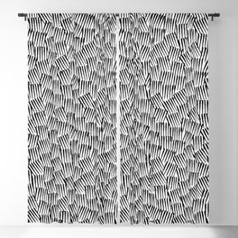 Crosshatched yourself Blackout Curtain