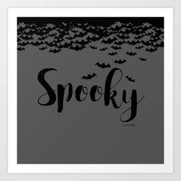Spooky - grey/black Art Print