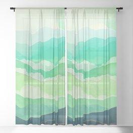 Emerald Spring Sheer Curtain
