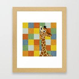 Giraffe Illustration Framed Art Print