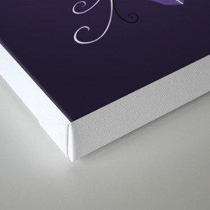 Violet Swirly Leaf Canvas Print