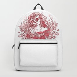 Sexy Woman zombie WITH Flower - Light Coral Backpack