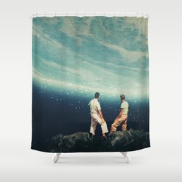 The Earth was crying and We were there Shower Curtain