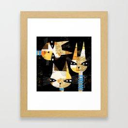 THREE HEADS Framed Art Print