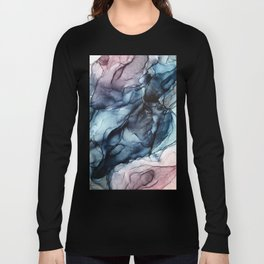 Blush and Darkness Abstract Paintings Long Sleeve T-shirt