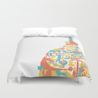 atlanta Duvet Covers featuring Atlanta, GA by ahutchabove