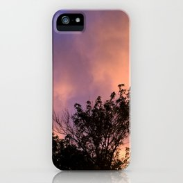 the skeleton of sunsets iPhone Case