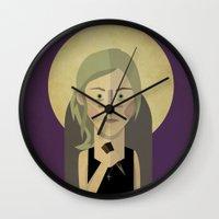 buffy Wall Clocks featuring Buffy The Vampire Slayer by Gary  Ralphs Illustrations